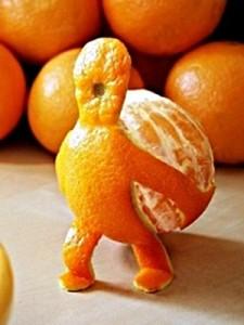 креативный апельсин