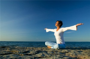 медитация на свежем воздухе